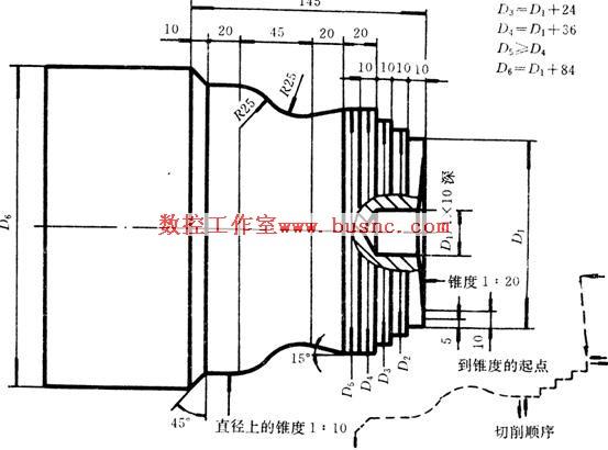 检验 工作/图5/12 盘类车床轮廓的偏差检验图