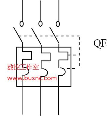 断路器的图形符号和文字符号如图
