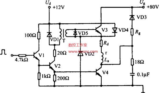 步进电动机的驱动伺服系统,加到步进电动机的定子绕组上的电脉冲信号,是由步进电动机的驱动控制器给出的,驱动控制器由环形分配器和功率放大器两部分组成。在许多CNC系统中,环形分配器的功能由软件产生,在这种情况下,驱动器就不包括环形分配器。