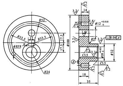 数控铣加工工艺模拟试题