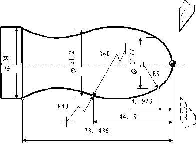 数控车床半径编程实例 图带详细注解