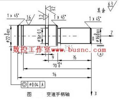 轴类零件数控车削工艺设计及编程_变速手柄轴数控车削工艺设计及编程举例