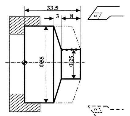 简单固定循环——端面切削循环g81加工零件编程举例