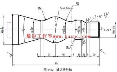 轴类零件数控车削工艺设计及编程_螺纹特形轴数控车削工艺设计及编程举例