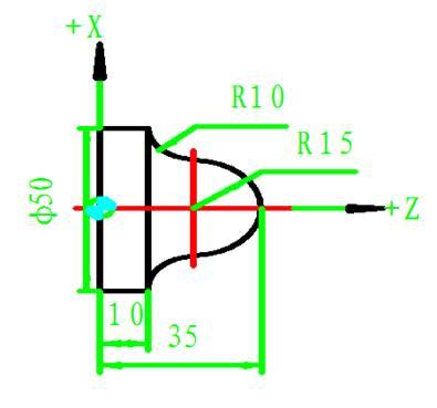 数控车床圆弧零件编程实例