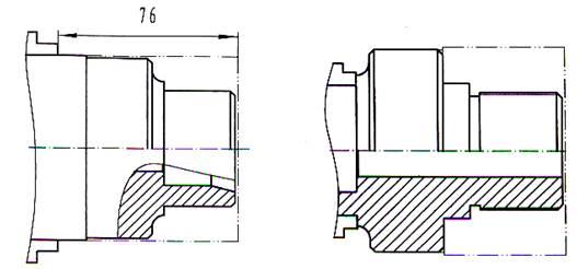 零件如图所示。材料:45#钢,毛坯尺寸80110。 1.图纸分析 (1)加工内容:零件加工包括车端面、外圆、倒角、内锥面、圆弧、螺纹、退刀槽等。 (2)工件坐标系:零件在加工中需要二次掉头装夹,从图纸上进行尺寸标注分析,应设置两个工件坐标系,两个工件坐标系的工件原点均应选在零件装夹后的右端面(精加工面)。
