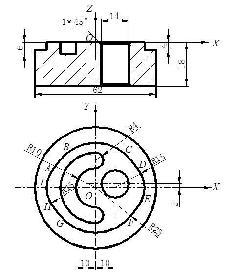 加工凸轮零件——凸轮轮廓及槽铣削编程举例